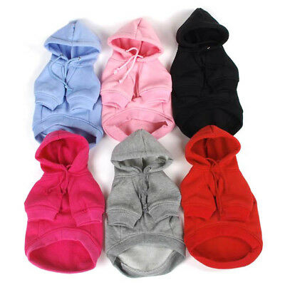 Small Pet Dog Clothes Puppy Cotton Sweatshirts Hoodie Warm Costume Clothing US