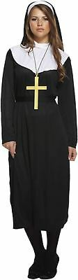 Adult Female Nun Fancy Dress Dressing Up Outfit Costume Hen Do NEW