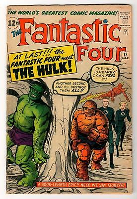 Marvel Comics FN- FANTASTIC FOUR #12  1st App HULK 5.0