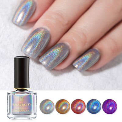 6ml BORN PRETTY Holographic Nail Polish Flourish Series Laser Glitter Varnish
