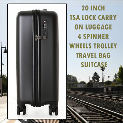 20 inch TSA Lock Carry On Luggage 4 Spinner Wheels Trolley Travel Bag Suitcase