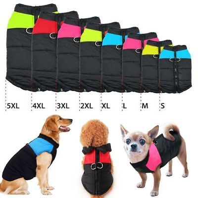Warm Large Dogs Pet Insulated Padded Coats Winter Puffer Jackets Zipper Clothes