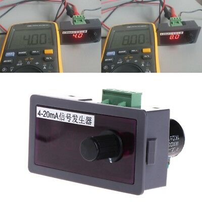 DC 12V/24V 4-20mA Signal Generator Signal Current Source w/ Polarity Protection