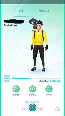 Pokemon-Go-account Level 33 - Email Changeable - Choose Team
