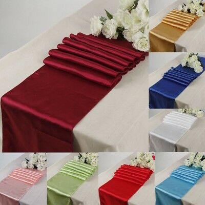 12'' x 108'' Satin Table Runners Wedding Party Banquet Decoration Various Colors