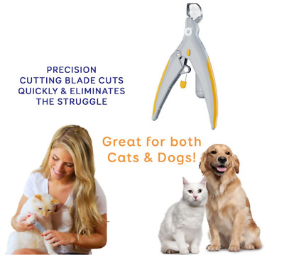1pc Pet Nail Trimmer Peti Care Tools LED Lights Nail Clippers Grinders Cat Dog