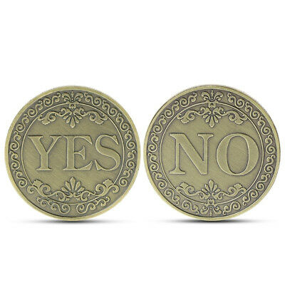 Yes or No Lucky Decision Coin Bronze Commemorative Coin Retro Collection Gift