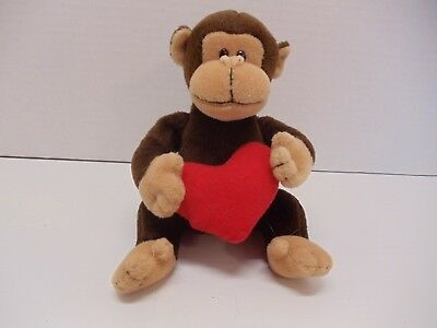 TY Beanie Baby D'vine Monkey with Red Heart