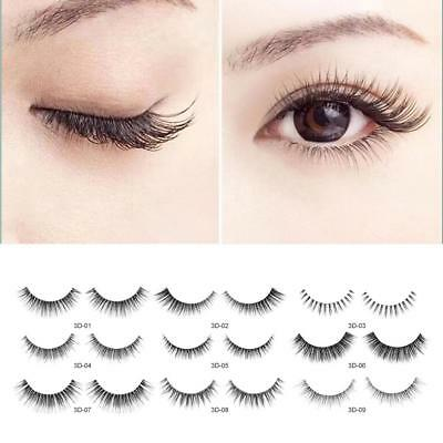3D Gel-free Eye Lashes False Eyelashes Extension Self Adhesive Makeup Handmade