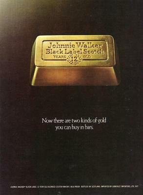 "Johnnie Walker Black Label Scotch Whisky Print Ad ""there Are Two Kinds Of Gold"""