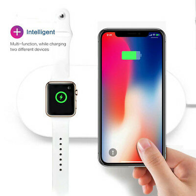 Wireless Fast Charger Holder Stand for Apple Watch 4 for iPhone XS /XS MAX/XR