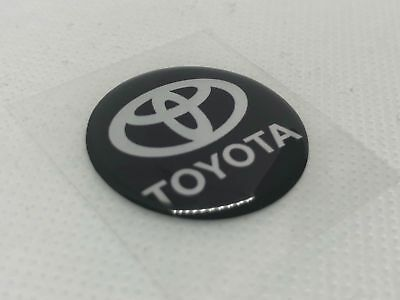 2 pcs. Toyota logo badge sticker. 30mm. Domed 3D Stickers/Decals.