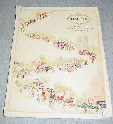 1926 1927 Lincoln Salon Cars Travelogue of Art & Transportation Sales Brochure