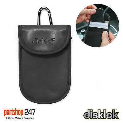 Disklok 14cm Faraday Car Key Signal Block RFID Keyless Anti-Theft Pouch Wallet