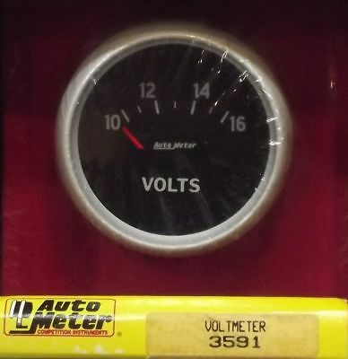 2-5/8 Inch Electrical Voltmeter Gauge Autogage by AutoMeter 3591