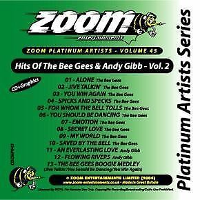 Zoom Karaoke CD+G Platinum Artists 45 Bee Gees & Andy Gibb Volume 2 New Sealed