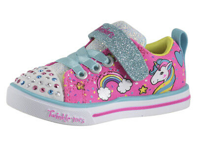 Skechers Toddler Girl's Unicorn Craze Pink/Multi Light Up Sneakers Shoes