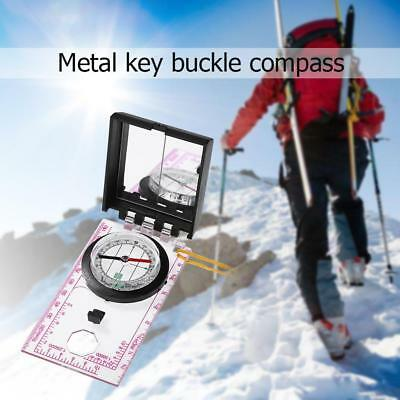 Portable Mapping Ruler Mirror Outdoor Survival Camping Hiking Compass Tools Set