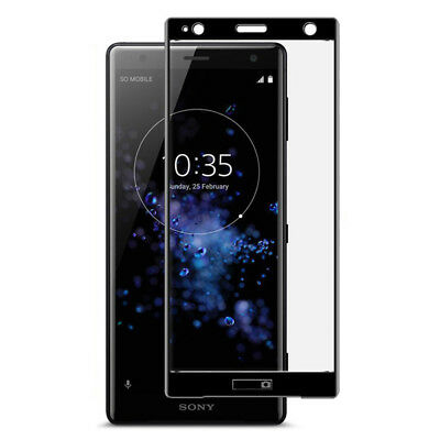 Full Covered Tempered Glass Screen Protector Film For Sony Xperia XZ1 Compact