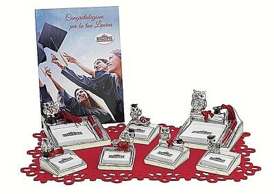 N.1 FAVOURS OWL DEGREE with POST IT in 6 models in GALVANIC 925 SILVER%
