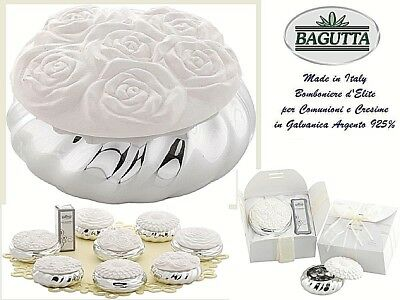 N.1 FAVOURS AIR FRESHENER WEDDING-COMMUNION PORCELAIN in galvanic 925 SILVER%