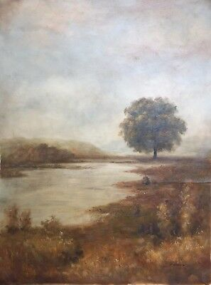 """Original Oil Painting On Canvas Contemporary  30"""" x 40"""" Landscape Signed"""