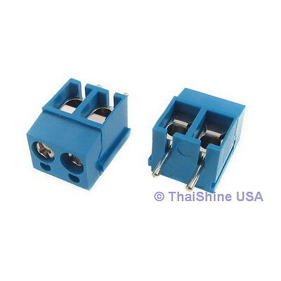 5 x DG301 Screw Terminal Block 2 Positions 5mm - USA Seller - Free Shipping