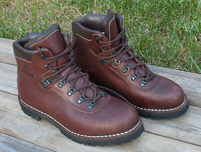 0146109f040 ALICO SIZE 12 M Hiking Backpacking Leather Brown Boots Men's Made Italy