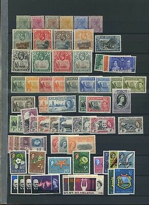 St Helena early to mid mint collection mix of MH and MNH