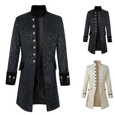 Steampunk Coat Jacket Outwear Vacation Vintage Gothic Victorian Morning Coat