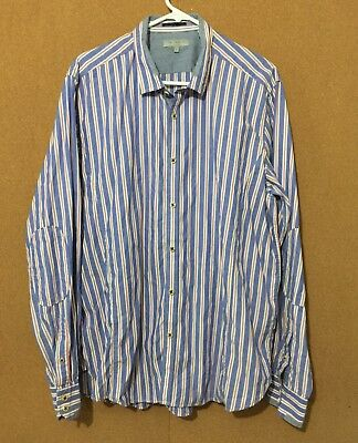 43d4b39b4 Ted Baker Men s Casual Dress Shirt Striped Multi-color Size 7 100% Cotton
