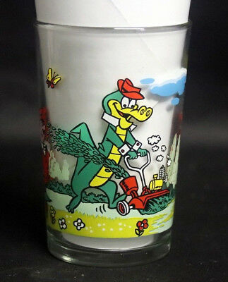 Verre à moutarde glass WALIGATOR Hanna Barbera 1984