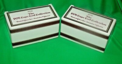 AVON 1876  Ruby Red Cape Cod Collection Footed Glass Set  of 4 with boxes