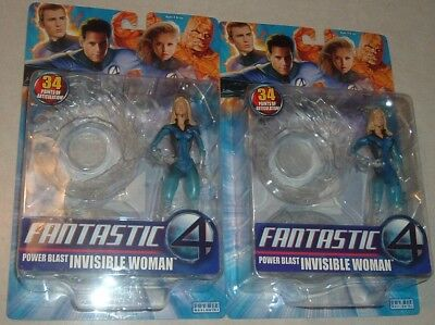 Fantastic 4 INVISIBLE WOMAN~'05 POWER BLAST~Lot of 2~JESSICA ALBA~ AWESOME RARE