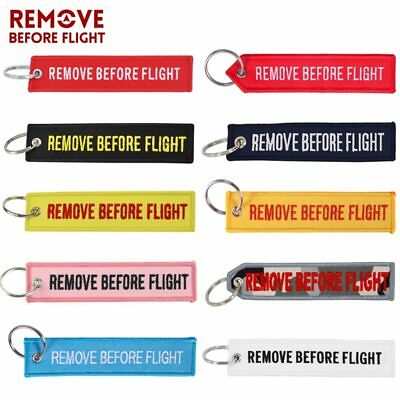 5 PCS Remove Before Flight Embroidery Keychain for Aviation Jewelry Luggage Tag