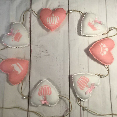 Professionally manufactured Shabby Chic// Vintage  Heart Garland Bunting