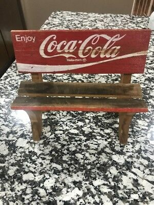 Vintage Coca Cola Wood Crate Small Bench, Wooden Folk Art, Coke / Advertising