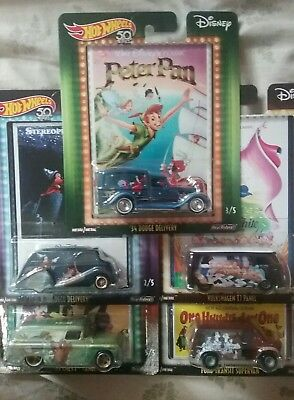 Hot Wheels 1:64 Pop Culture 2018 Q Disney Classic SET OF 5 PRICED TO SELL