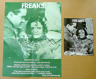 FREAKS Tod Browning ANGELO ROSSITTO Films Inc LOT of 2 POSTERS