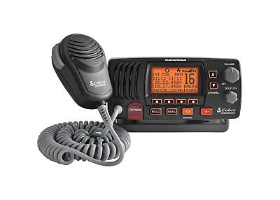 Cobra Marine - MRF57B - 25 Watt Class-D Fixed Mount VHF Radio, Black