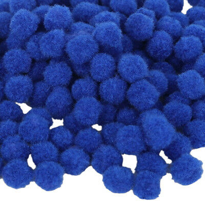 100x Craft Pom Poms DIY Accessories Cute Balls Mini Craft Decoration Blue