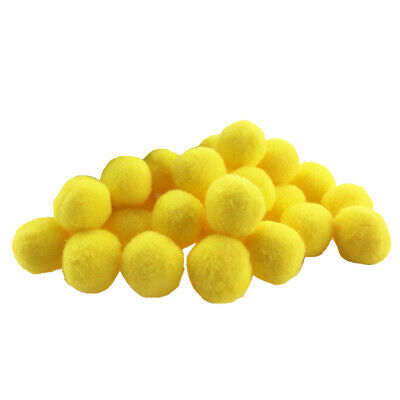 100x Craft Pom Poms DIY Accessories Cute Balls Mini Craft Decoration Yellow
