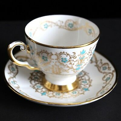 Tuscan Princess Louise Footed Cup and Saucer Set Fine Bone China