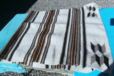 Real Wool Navajo Rug or Horse Saddle Blanket Double Size