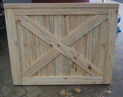 "Custom Handmade Farmhouse Baby Pet Gate Unfinished (Up to 36"")"