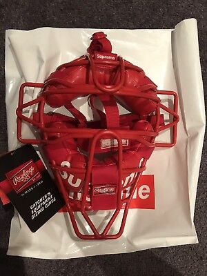 Supreme X Rawlings Catchers Mask Red SS18 Accessories