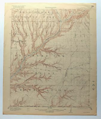Soda Canyon Colorado USGS Topo Map 1915 Mesa Verde National Park Topographic