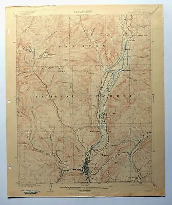 Durango Colorado Rare Antique 1908 USGS Topo Map Hermosa Topographical
