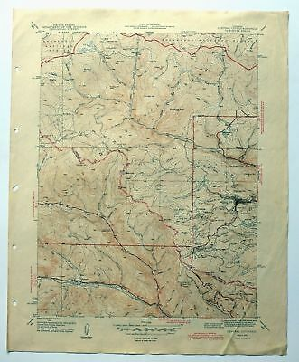 Central City Colorado Vintage 1944 Usgs Topo Map Scarce 7 5 Minute
