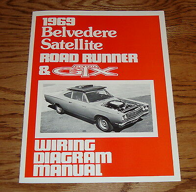 1969 plymouth belvedere satellite road runner & gtx wiring diagram manual 69
